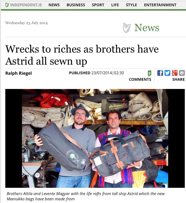 Irish Independent Astrid Liferaft